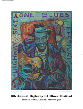 8th Annual Blues Festival Poster